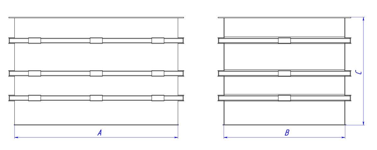 Прямоугольная емкость полипропиленовая открытая 2