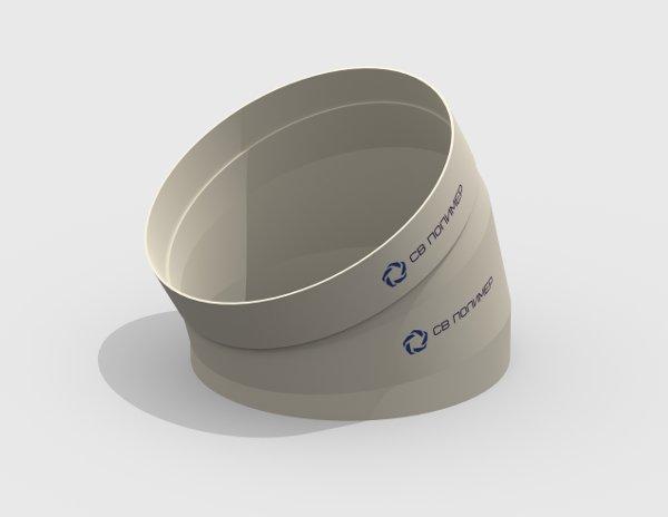 Отвод 30 вентиляционный круглый<br><span>раструб</span>