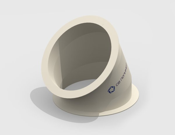 Отвод 45 вентиляционный круглый<br><span>фланец-фланец</span>