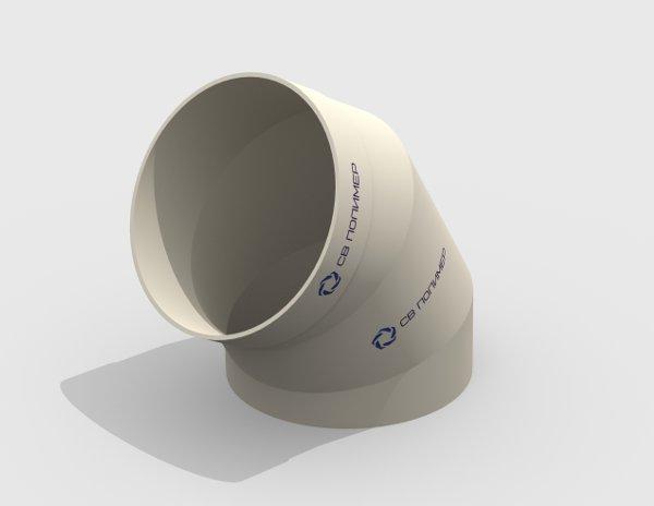 Отвод 60 вентиляционный круглый<br><span>раструб</span>