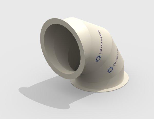 Отвод 90 вентиляционный круглый<br><span>фланец-фланец</span>