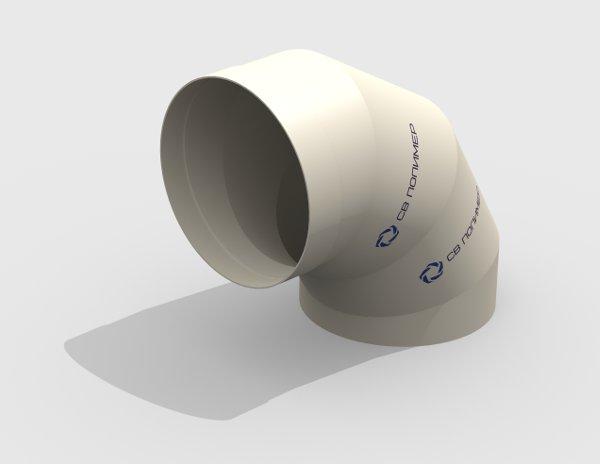 Отвод 90 вентиляционный круглый<br><span>раструб</span>