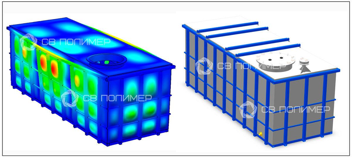 Емкость 5,5 м3 (материал РЕ)