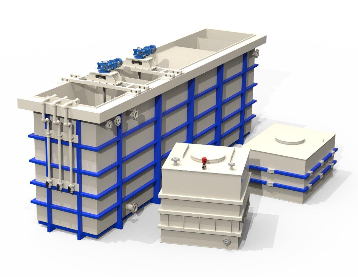 Емкости и резервуары пластиковые прямоугольные и квадратные