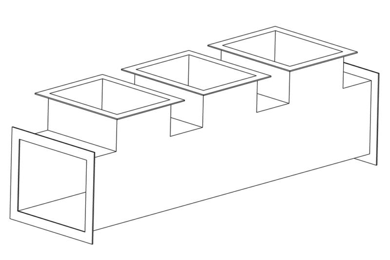 Коллектор прямоугольный
