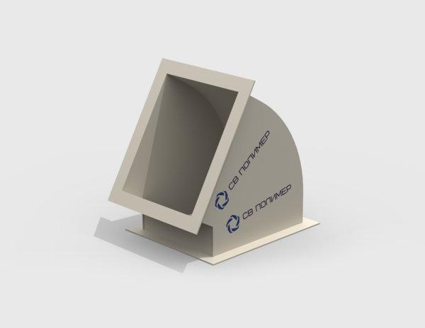 Отвод 60 градусов вентиляционный прямоугольный<br><span>фланец-фланец</span>