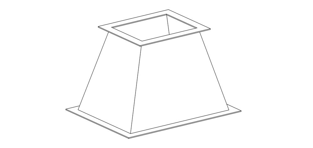 Переход прямоугольный фланцевый