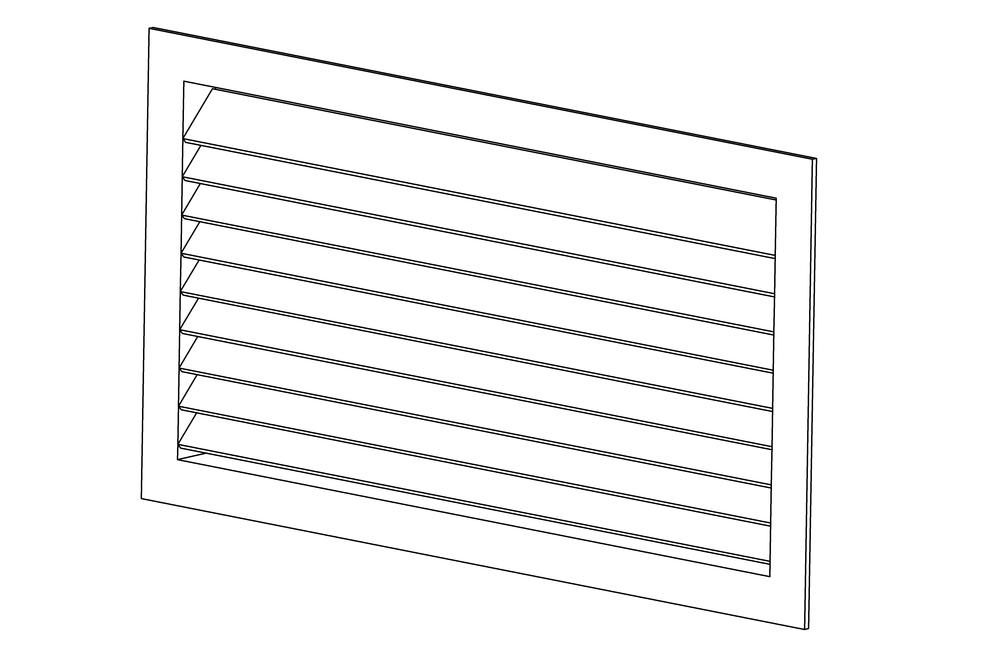 Решетка вентиляционная прямоугольная