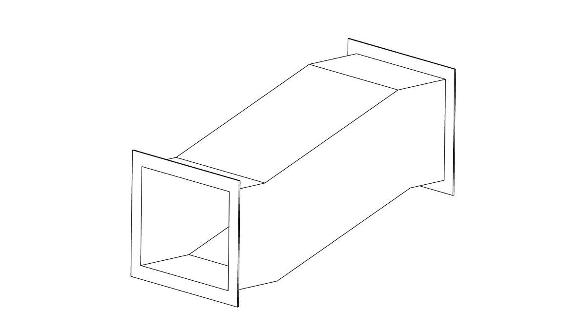 Утка прямоугольная: фланец-фланец 1348