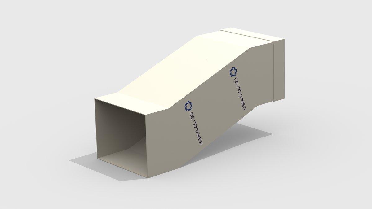 Утка вентиляционная прямоугольная: раструб 761