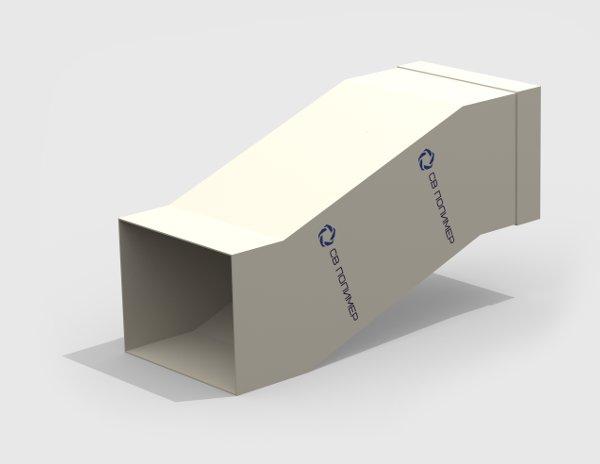 Утка вентиляционная прямоугольная<br><span>раструб</span>