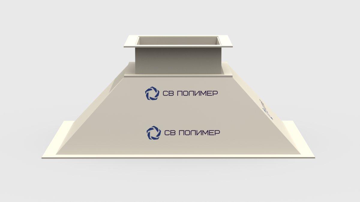 Зонт вытяжной прямоугольный: фланец 891