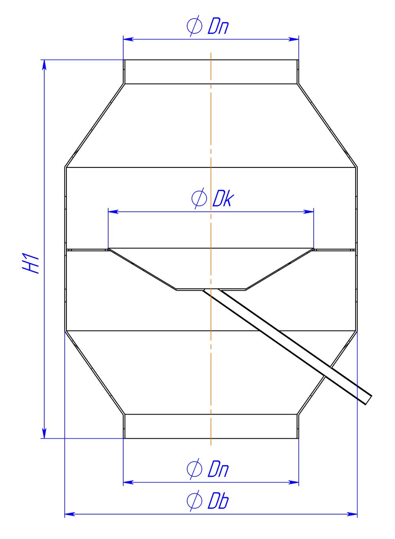Дефлекторный колпак круглый