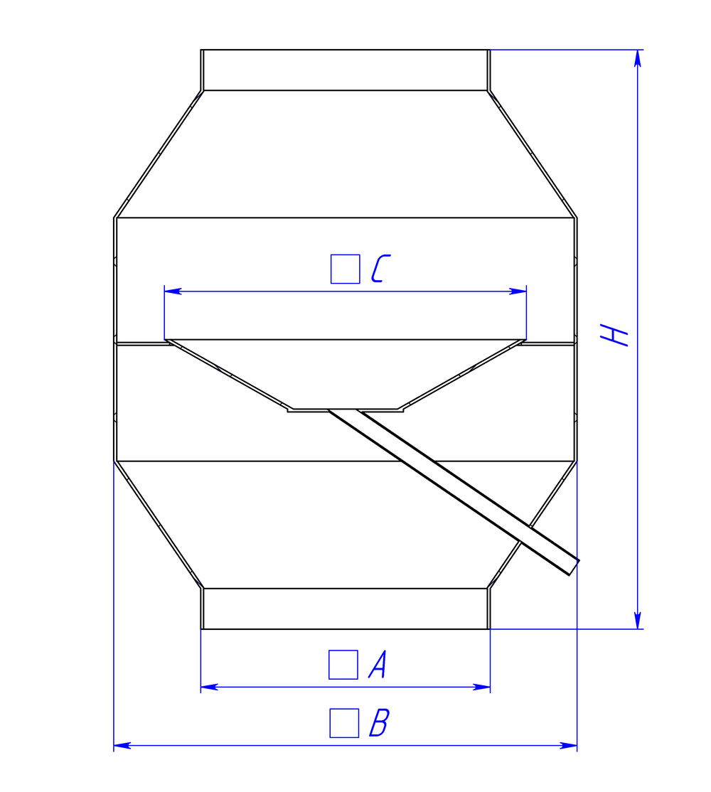 Дефлекторный колпак прямоугольный