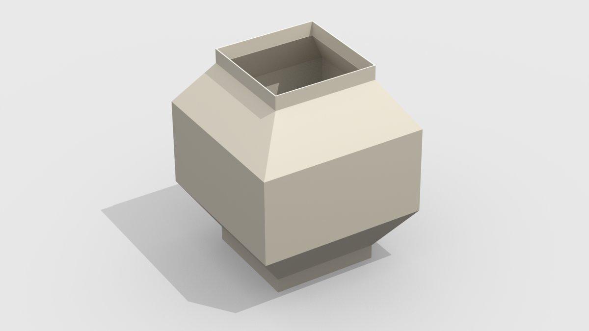Дефлекторный колпак прямоугольный 1323