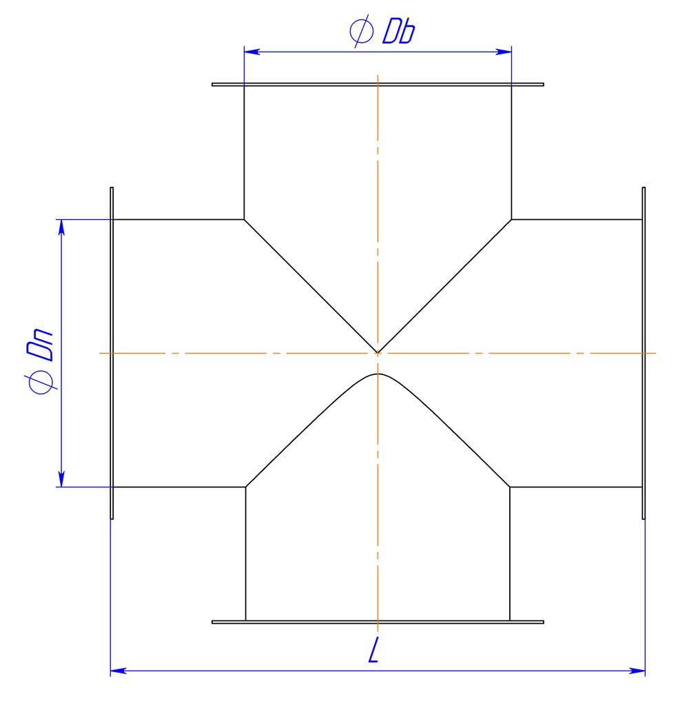 Крестовина круглая фланец