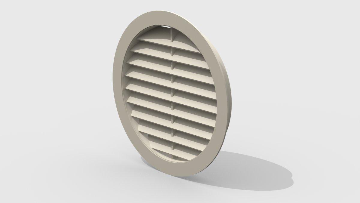 Решетка вентиляционная круглая 1289