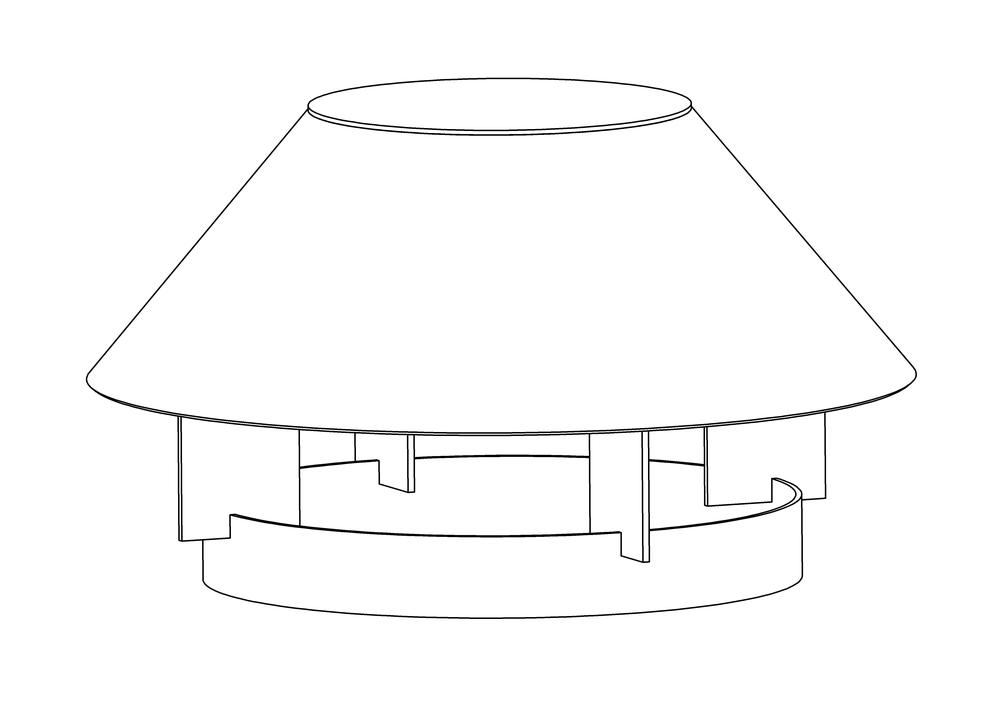 Зонт вентиляционный круглый
