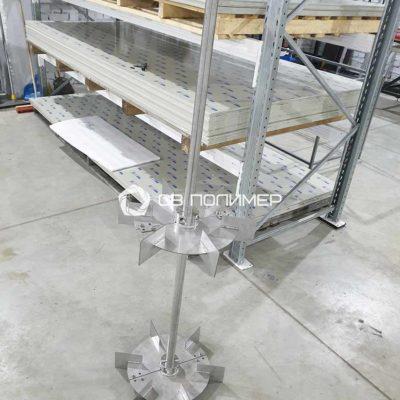 Турбинная мешалка 2-х уровневая/ Сталь AISI 316L